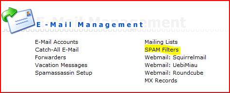 spam-filter-menu